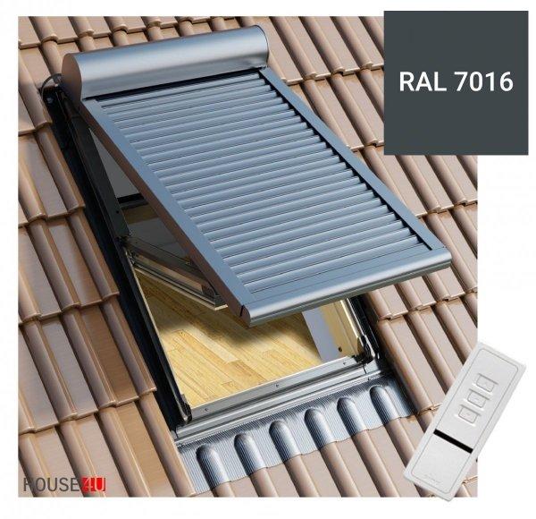 Außenrollladen Okpol RZE1 Rollladen mit Elektroantrieb 230V funkgesteuerte für die neue Generation
