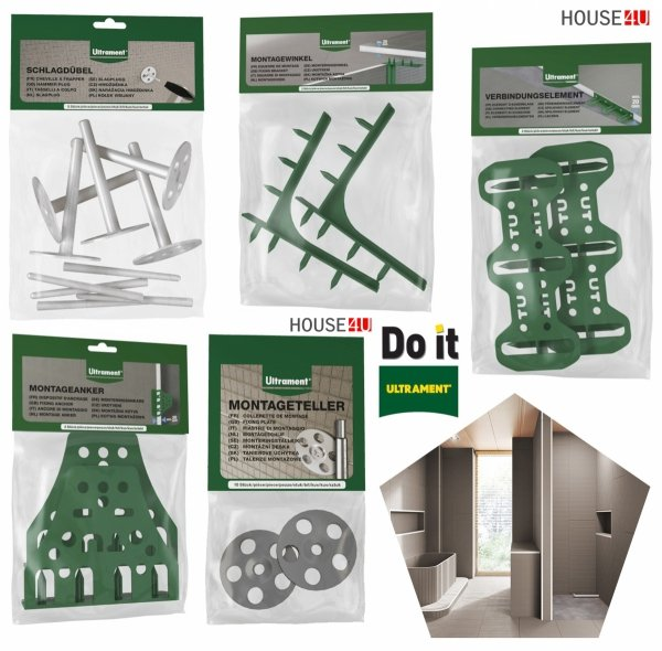 Bauplatte Ultrament Do-it 120 x 60 cm Stärke: 40 mm Trockenbau XPS Glasfasergewebe, Schimmelresistent & Wasserresistent, Extrem leicht, für die Anwendung im Innen- und Außenbereich, Wedi Byggeplade Kreativbauplatte