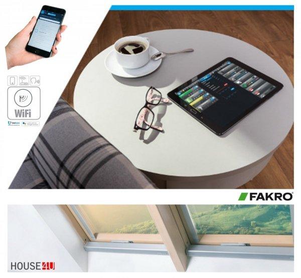 Dachfenster Fakro FTU-V U5 Wifi Uw=0,97 3-fach Schwingfenster Holz weiß lackiert wie Kunstoff erhöhter Feuchteresistenz