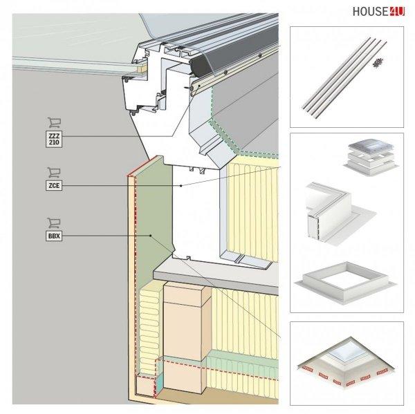 VELUX Flachdach-Fenster CVP 0073U- manuell aufgemacht www.house-4u.de