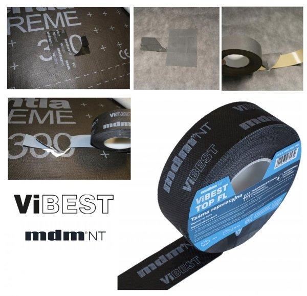 MDM® ViBEST TOP FL Reparaturband wasserdichter Funktionsfilm  TPU-Film - DAXALL® ViBEST Klebebaender Unterdeck-Unterspannbahnen