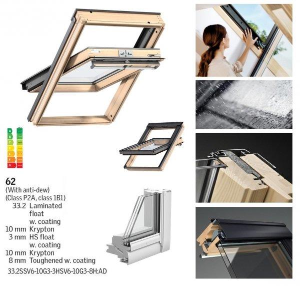VELUX Schwingfenster GGL 3062 SCHALLSCHUTZ Holz klar lackiert www.house-4u.eu
