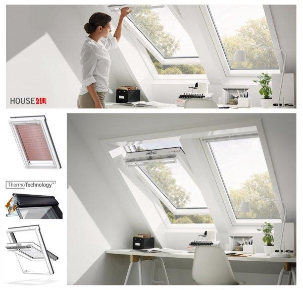"""VELUX Original Dachfenster GGU 0050 Uw=1,3 Schwingfenster aus Kunststoff Alternative fur THERMO-STAR Standard """"Thermo-Technology"""" (EU-Modell)"""