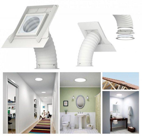 Tageslicht-Spot Velux TWF 2010 mit Flexibles Rohr www.house-4u.eu