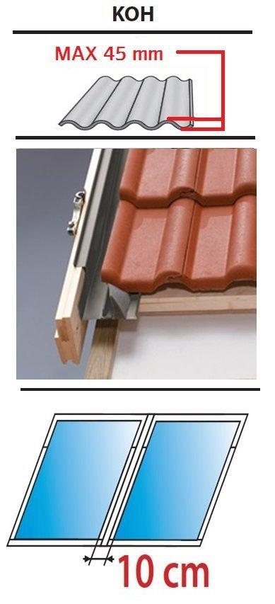 Kombi Eindeckrahmen 2/1 Oman KOF für profilierte Eindeckmaterialien 0 - 45mm www.house-4u.eu