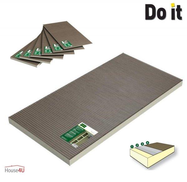 Bauplatte Hartschaum Qboard Fliesenbauplatte Wasserfest XPS Ultrament Do-it