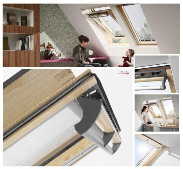 VELUX Dachfenster Schwingfenster GGL 3050 Holz klar lackiert Standard Verglasung www.house-4u.eu