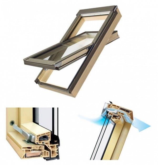 Dachfenster Fakro PTP-V/PI U3 Schwingfenster MIT ERHÖHTER FEUCHTERESISTENZ www.house-4u.eu