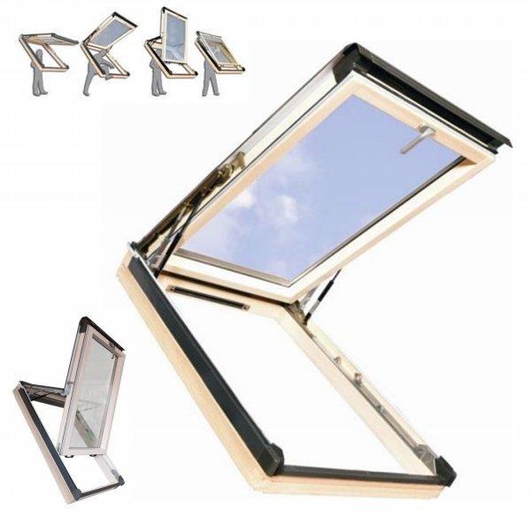 Dachfenster Kipp-Schiebefenster Okpol ISK E2  Holz klar lackiert www.house-4u.eu