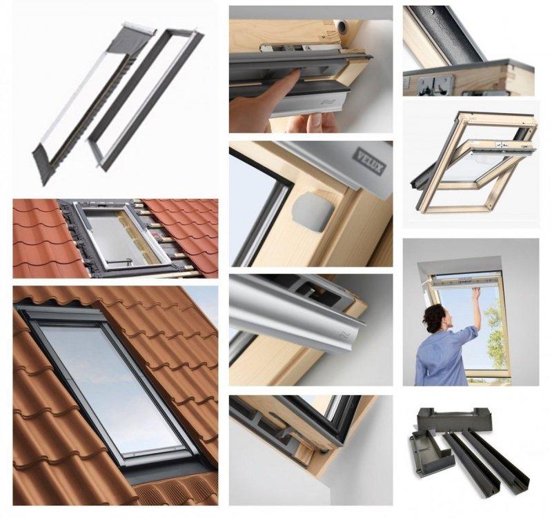 dachfenster set velux gll 1061 3 fach verglasung uw 1 1 schwingfenster holzfenster edj 2000. Black Bedroom Furniture Sets. Home Design Ideas