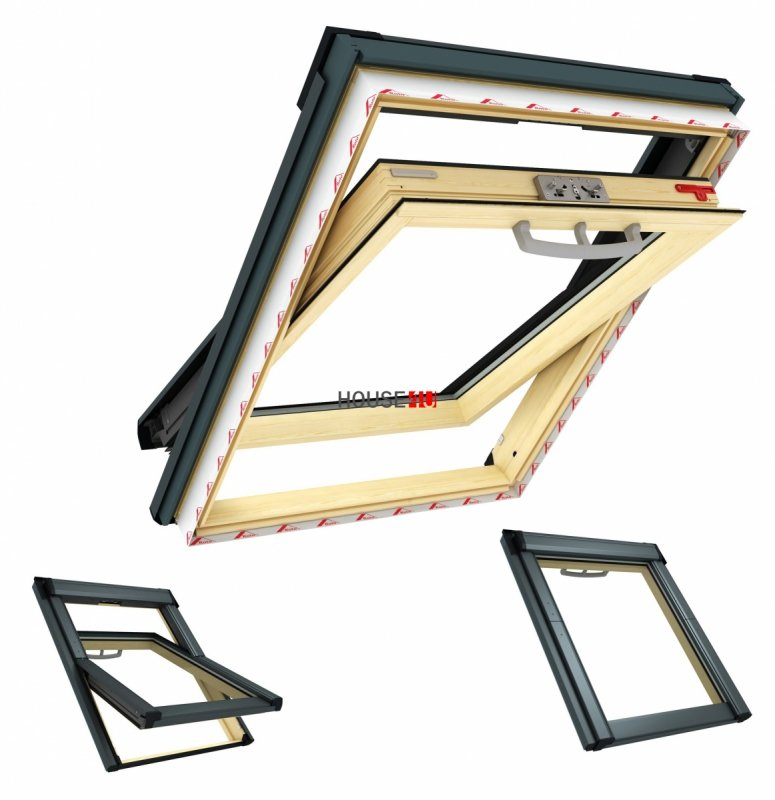 dachfenster roto q 4 h2s p5 schwingfenster uw 1 1 holz 2 fach verglasung holzfenster. Black Bedroom Furniture Sets. Home Design Ideas