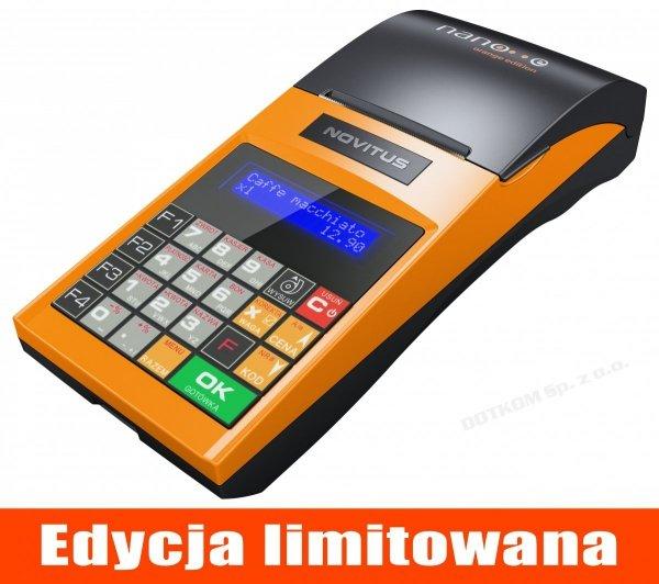 Kasa fiskalna Novitus Nano E Orange Edition + serwis GRATIS