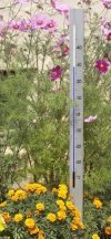 TFA 12.2005 CENTRAL PARK termometr ogrodowy cieczowy zewnętrzny aluminiowy bardzo duży 137 cm