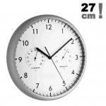 Zegar ścienny TFA 98.1072 wskazówkowy z termometrem i higrometrem 27 cm