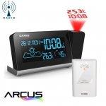 Garni 335 ARCUS stacja pogody bezprzewodowa  z czujnikiem zewnętrznym i budzikiem z projektorem