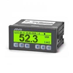 APAR AR200 rejestrator uniwersalny dwukanałowy temperatury i sygnałów analogowych wyświetlacz LCD tablicowy 96x48 mm