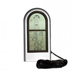 Termometr elektroniczny Viking 02034 z zewnętrznym czujnikiem przewodowym