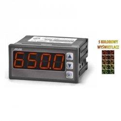 Miernik uniwersalny temperatury i sygnałów analogowych APAR AR517 wyświetlacz 20 mm tablicowy 96 x 48 mm wyjście analogowe Modbus RTU