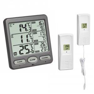 TFA 30.3062 TRIO termometr bezprzewodowy z 2 czujnikami zewnętrznymi