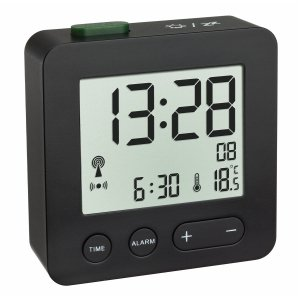 TFA 60.2545 budzik biurkowy zegar elektroniczny sterowany radiowo