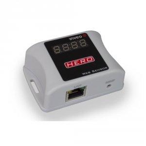 Inveo Hero moduł pomiarowy 4-kanałowy internetowy przetwornik temperatury i wilgotności IP Ethernet Modbus TCP