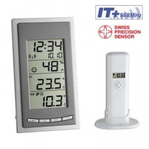 TFA 30.3018 DIVA GO termohigrometr bezprzewodowy z czujnikiem zewnętrznym błyskawiczna transmisja