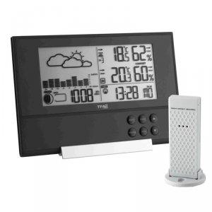 Stacja pogody bezprzewodowa TFA 35.1106 PURE PLUS z czujnikiem zewnętrznym bardzo cienka