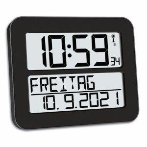 TFA 60.4512 zegar elektroniczny ścienny biurowy sterowany radiowo