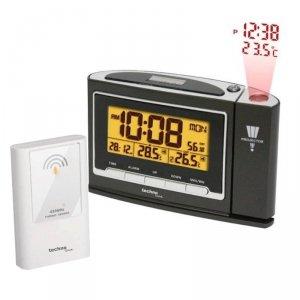 TechnoLine WT 529 termometr bezprzewodowy  z czujnikiem zewnętrznym budzik z projektorem