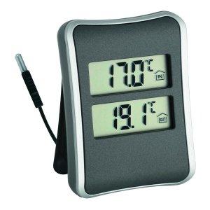 TFA 30.1044 termometr elektroniczny z zewnętrznym czujnikiem przewodowym