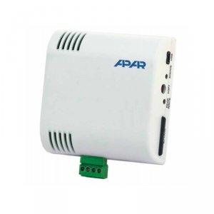 APAR AR233 rejestrator temperatury dwukanałowy przemysłowy termometr wewnętrzny naścienny z wejściem uniwersalnym