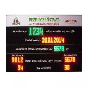 Tablica informacyjna przemysłowa LED wyświetlacz parametrów produkcji i BHP Modbus