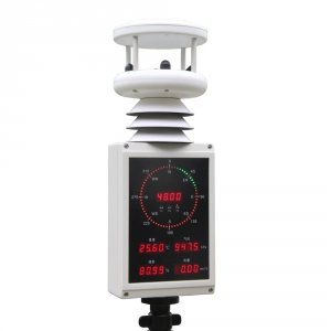 HongYuv HY-WDS63E mobilna stacja meteorologiczna z panelem LED wiatromierz ultradźwiękowy