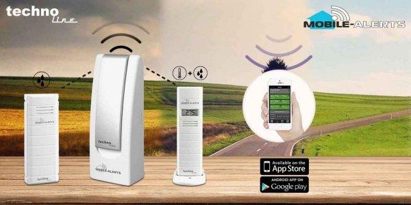 System zdalnego monitoringu Mobile Alerts MA10800-3 alarm otwarcia okna drzwi smartfon