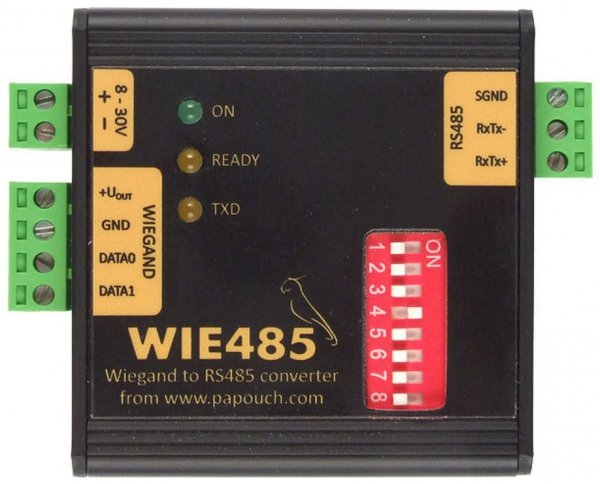 Papouch Wie485 konwerter przemysłowy Wiegand do RS485