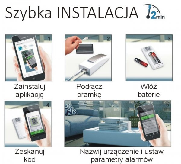 System zdalnego monitoringu Mobile Alerts MA10005 zestaw startowy termometr smartfon