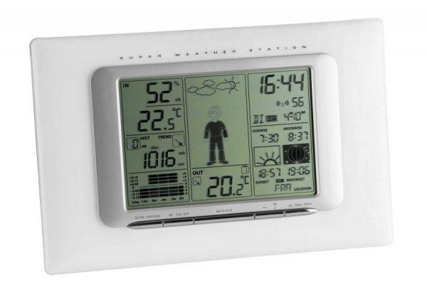 TFA 35.1066 METEO MAX stacja pogody bezprzewodowa z czujnikiem zewnętrznym opcjonalnie czujnik basenowy