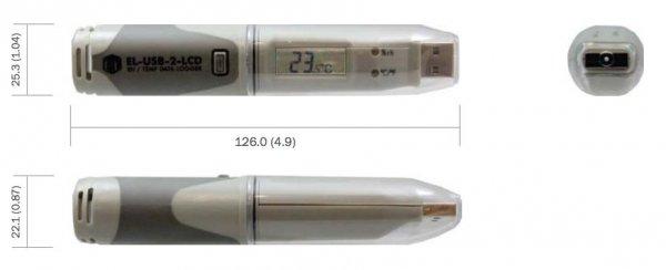 Corintech USB-TH-LCD rejestrator temperatury i wilgotności data logger termohigrometr USB