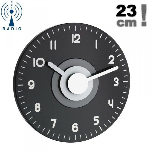 TFA 60.3508 POLO zegar ścienny wskazówkowy sterowany radiowo 23 cm - WYPRZEDAŻ