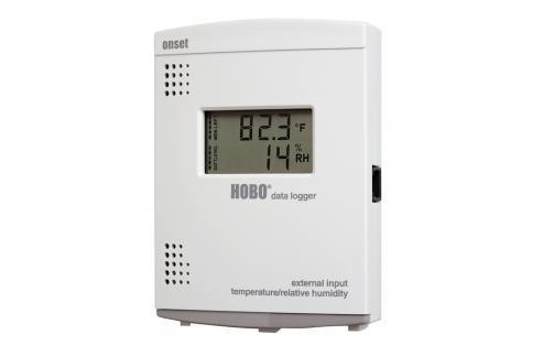 Rejestrator temperatury i wilgotności HOBO U14-002 z wyjściem przekaźnikowym (alarm) termohigrometr z gniazdem sondy i wyświetlaczem wewnętrzny