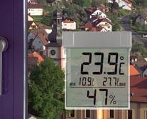 TFA 30.5020 VISION termohigrometr okienny elektroniczny max/min przyklejany