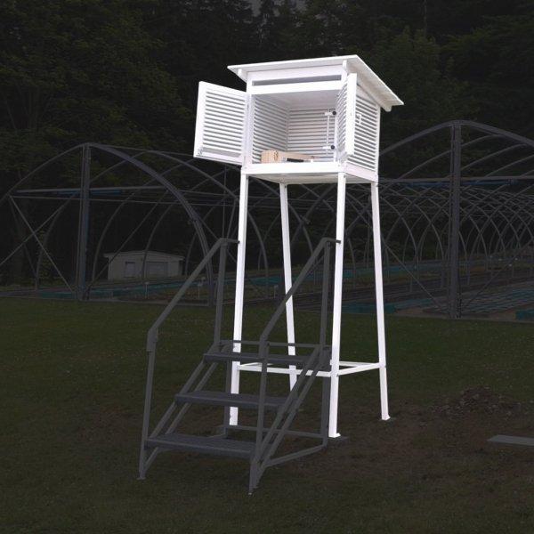 Klatka meteorologiczna Stevensona standardowa IMGW duża + stojak metalowy