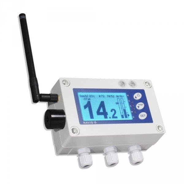 Rejestrator prędkości wiatru sygnalizacyjny bezprzewodowy Navis W410XL wyjście przekaźnikowe moduł on-line WiFi moduł Bluetooth