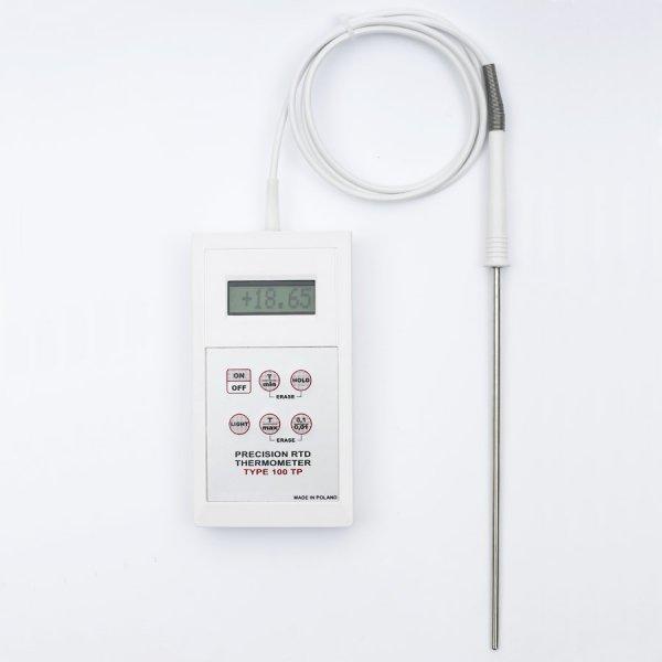 Termometr wzorcowy laboratoryjny 100-TP elektroniczny termorezystancyjny Pt1000 z sondą szpilkową kontrolny do 250C