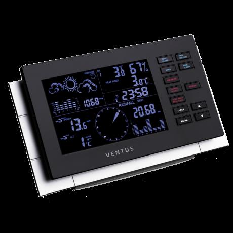Stacja pogody bezprzewodowa Ventus W155 zewnętrzna wiatr, opady