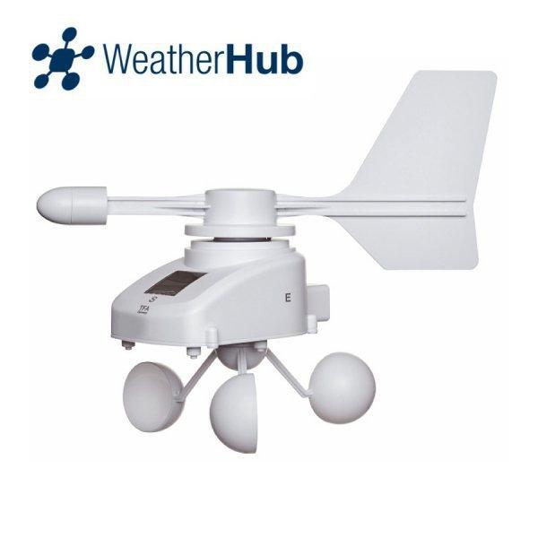 TFA 30.3307 czujnik prędkości i kierunku wiatru bezprzewodowy wiatromierz anemometr do WeatherHub