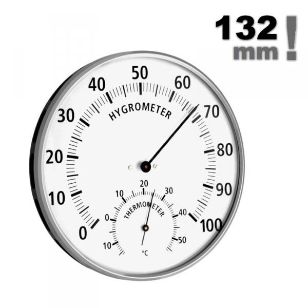 TFA 45.2019 termohigrometr tradycyjny czujnik temperatury i wilgotności mechaniczny włókna syntetyczne duży 132 mm