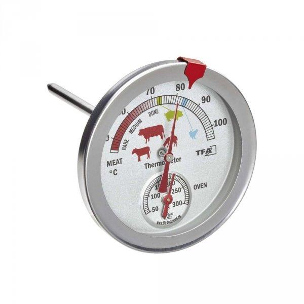 TFA 14.1027 termometr kuchenny mechaniczny 2 w 1 do kontroli temperatury mięsa i piekarnika