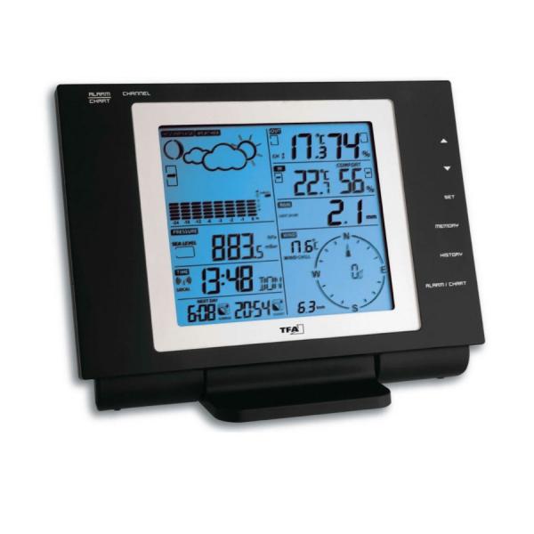 Stacja pogody bezprzewodowa TFA 35.1075 NEXUS zewnętrzna wiatr, opady