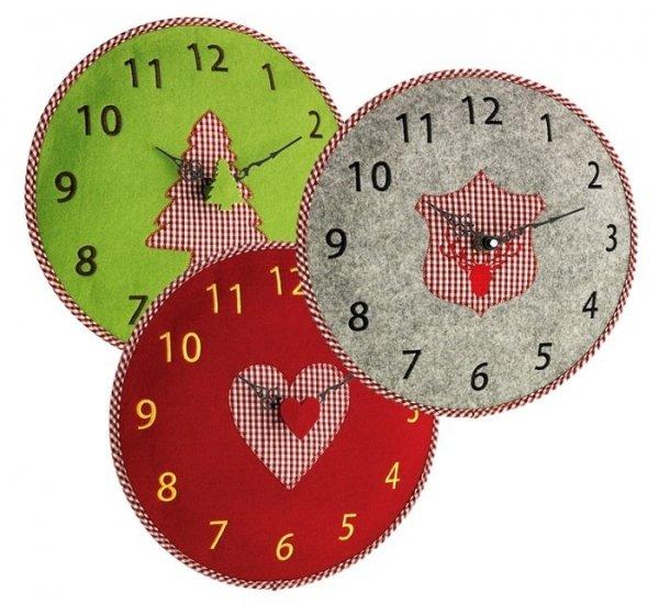 TFA 60.3025 zegar ścienny wskazówkowy filcowy 33 cm